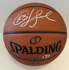 Chris Paul Autographed Basketball. Signed Houston Rockets star BAS COA [psa]