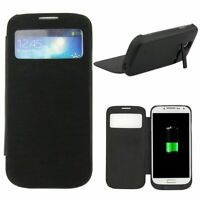 4500mAh Backup Battery Charger Power Bank Flip Case for Samsung Galaxy S4 i9500
