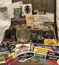 """""""Junk Drawer"""" New & Vintage Purse Jewelry Military Patches Coins Buttons Pins+"""