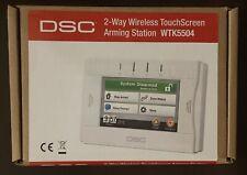 New In Box:  DSC 2-Way Wireless TouchScreen Arming Station WTK5504
