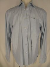 Borrelli Napoli Mens Blue Plaid Long Sleeve Cotton Dress Shirt 42 16.5-35/36