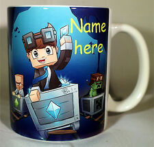 Diamond Minecart - Coffee mug - PERSONALISED - Mine Son Daughter Craft DAN TDM