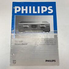 Philips FC 930 Stereo Dual Cassette Deck Owner's Manual OEM Original