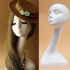 16'' Female Styrofoam Foam Mannequin Long Neck Wig Head White