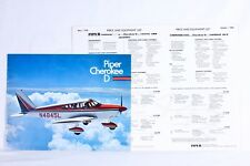 PIPER Vintage 1968 CHEROKEE D Brochure Price List Lot of 3 Color Rare USA Gift