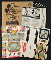 "1950s UNUSED ""MICKEY MOUSE CLUB MAGIC KIT"" IN MAILER CANDY BAR PREMIUM DISNEYANA"