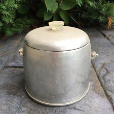 "Vintage Mid Century Retro Kromex Aluminum Ice Bucket 50's-60's 9.5"" T 9""W"