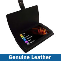Black Genuine Leather Case Cover Holder for Archos 7 Android Home Tablet 8GB