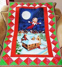 Christmas An Elf Story Elf on the Shelf Handmade Quilt + Matching Pillow