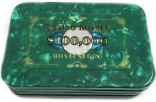 $100,000 JAMES BOND CASINO ROYALE POKER PLAQUE