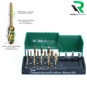 Dental Bur Drills Dental Implant Kit Surgical 13 PCs With 4 Guid Pin