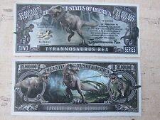 TYRANNOSAURUS REX: Largest of All Dinosaurs ~ $1,000,000 One Million Dollar Bill