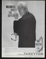 1957 Vintage Print Ad 50's TAREYTON cigarette man smoking jacket image photo