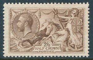1918-1919 GB 2/6d PALE BROWN SEAHORSE MINT HINGED MLH SG415a
