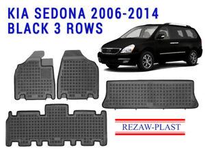 Passenger /& Rear Floor 2005 Kia Sedona Brown Driver 2004 2003 GGBAILEY D4795A-S2B-CH-BR Custom Fit Car Mats for 2002