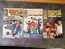 LOT OF 3 VINTAGE NEW KIDS ON THE BLOCK COMIC BOOKS STEP BY STEP NKOTB TOUR RARE
