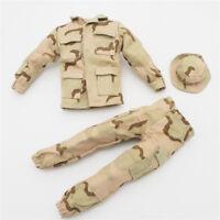 1/6 Scale clothes Uniforms Outfits pants hat desert camo for Action Figurres