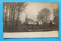 Polen Polska Foto Photo AK Zachan Zuchan Zacha Pommern Ort Kirche Häuser 1905-25