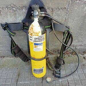 equipo de protección respiratoria bomberos Botella Aire 6l 200 bar  +mochila
