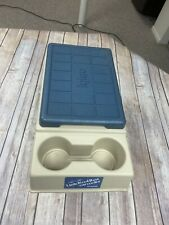 Vintage Igloo Little Kool Rest Car Cooler Console Ice Chest 2 Cup Holder Khaki