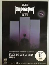 JUSTIN BIEBER  2017 BERN  ++  orig.Concert Poster -- Konzert Plakat   MOTIV 2