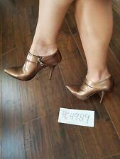 Prada Bronze Metallic Ankle Booties size 38 US 7.5 box,dust bags