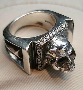 SPRAGWERKS DIAMOND SKULL RING 52 GR. SZ12 KING BABY, BILL WALL , STARLINGEAR