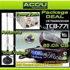 TTI TCB-771 Car Truck Home CB Radio Transceiver+Power Supply+Aerial Package Deal
