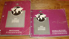 1997 Ford Contour Mercury Mystique Shop Service Manual + EVTM Wiring Diagram Set