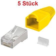 RJ45 Stecker 8 polig für Lan-Kabel Internetkabel Patchkabel Netzwerkkabel gelb
