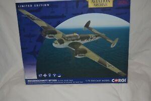 Corgi AA38509 1:72 Scale Messerschmitt Bf110D VJ+OQ Model.Rudolf Hess 10th 5/41