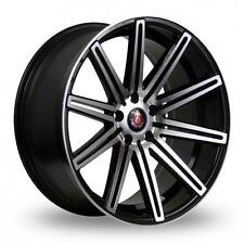 """19"""" AXE EX15 GLOSS BLACK MACHINED FACE ALLOY WHEELS ONLY NEW 5X114.3 ET45 RIMS"""