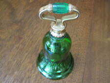 """Vintage 1978 Avon """"Roses Roses Cologne"""" Collectible Green Glass """"Bell"""" Decanter"""