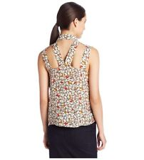 Bcbgeneration Women's Sleeveless Cutout Back Tunic- Red Multi, XS - Retail $78