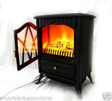 GTC Free Standing Portable Electric Fireplace Firebox Heater w/ 3D flame effect