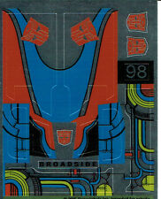 TRANSFORMERS GENERATION 1, G1 AUTOBOT PARTS BROADSIDE REPRO LABELS / STICKERS