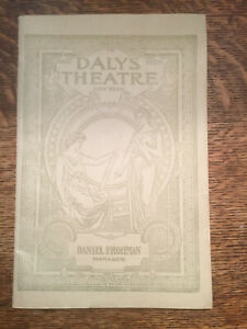 1872 1899 Daly's Theater Program Edna May The School Girl Charles Frohman
