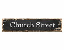 SP0499 CHURCH STREET Street Sign Home Room Cafe Store Shop Bar Chic Decor Gift