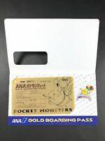 Pokemon Card Japanese Pikachu  ANA Pokemon Jet Gold Boarding Pass Very Good /A02