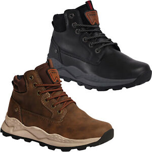 Wrangler Mens Crossy Yuma Mid Outdoor Leather Casual Walking Hiking Boots Shoes