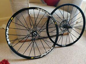 "Mavic Crossmax 26"" Lightweight Alloy Mtb Ust Wheels Ssc Black Disc Tubeless"
