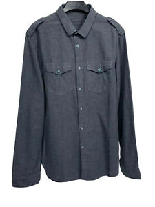 Burberry Prorsum Mens Button Up Shirt Military Style Size 42 - 16.5