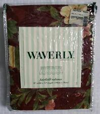 "Waverly Window Fairfield Valance 78"" x 14"" Chianti Cabernet Floral Red"