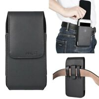 XL VERTICAL PU LEATHER BELT CLIP HOLSTER POUCH CASE COVER FOR iPhone Samsung LG