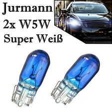 2x Jurmann Trade W5W 12V Original Super Weiß Glassockel Ersatz Halogen Lampe