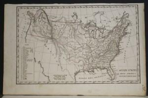 UNITED STATES TEXAS BELONGING TO MEXICO 1840ca ANONYMOUS UNUSUAL ANTIQUE MAP
