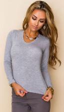 Maglie e camicie da donna camicetta grigio viscosa