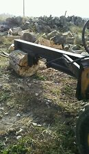 heavy duty upside down hydraulic  log splitter for a skid steer attachment