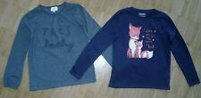 2 Shirts langarm Gr. 134 140 Paglie statement Shirt und Review Fuchs Motiv