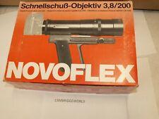 200mm F3.8 Novoflex Follow Focus telephoto lens NEW in the factory box GERMANY